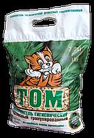 Древесный наполнитель ТОМ белая гранула 2,8 кг 10 литров