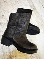 Кожаные ботинки с декоративной строчкой, фото 1