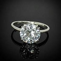 Кольцо с крупным камнем, размер 16.5