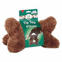 Karlie-Flamingo Dog Pillow Tip Top КАРЛИ-ФЛАМИНГО АНТИ-СТРЕСС игрушка подушка для собак, подушка-косточка, плюш, 23 см