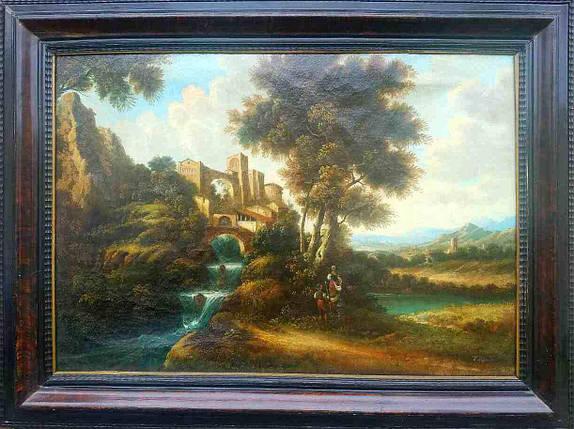 Картина Замковый пейзаж D.Belf Голландия нач.ХХ-го века, фото 2
