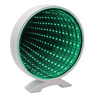 Светильник настольный Бесконечное зеркало Infinity Mirror (зеленое свечение)