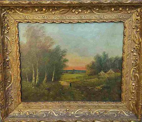 Пара лесных пейзажей S.Arel  Германия нач.ХХ-го века, фото 2