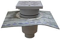 HL616HW/1 Дворовый трап серии Perfekt DN110 верт. с битумным полотном, чугун с водяным затвором