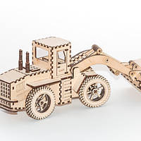 """Развивающий деревянный конструктор 3D пазл """"Экскаватор"""" (оригинальная сборная объемная модель из дерева)"""