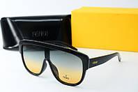 Солнцезащитные очки Fendi зеленые, фото 1