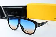 Солнцезащитные очки Fendi черные с синим, фото 1
