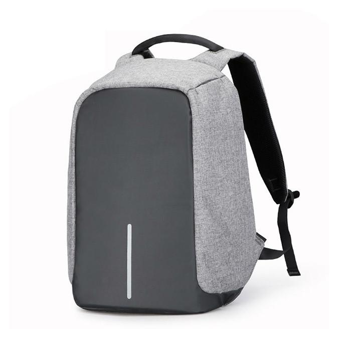 """Городской рюкзак антивор под ноутбук 15,6"""" Бобби Bobby с USB серо-черный, для ноутбука, портфель"""