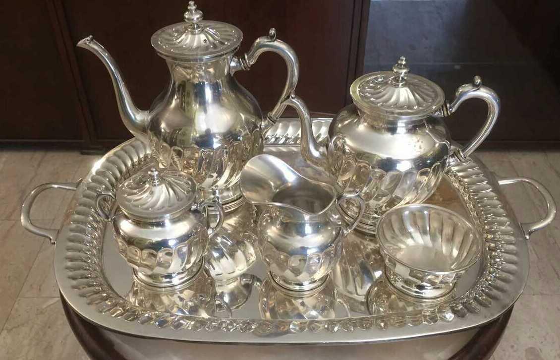 Русский кофейный сервиз серебро 84 пр. нач.ХХ-го века