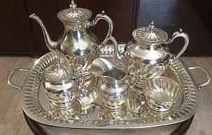 Русский кофейный сервиз серебро 84 пр. нач.ХХ-го века, фото 2