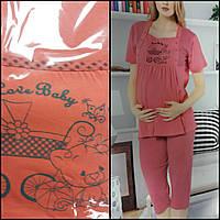 Футболка и капри для беременных, фото 1