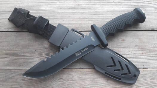 Нож армейский охотничий тактический Columbia USA Спецназ 1268А +пластиковый чехол