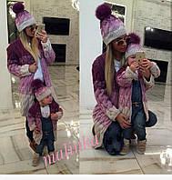 Комплект кардиган+шапка - 1180 грн, мама-700 грн и ребенок- 580 грн