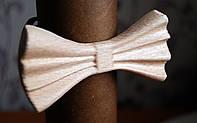 Деревянная бабочка галстук 3D Альбинос ручной работы, серия Зиррикот