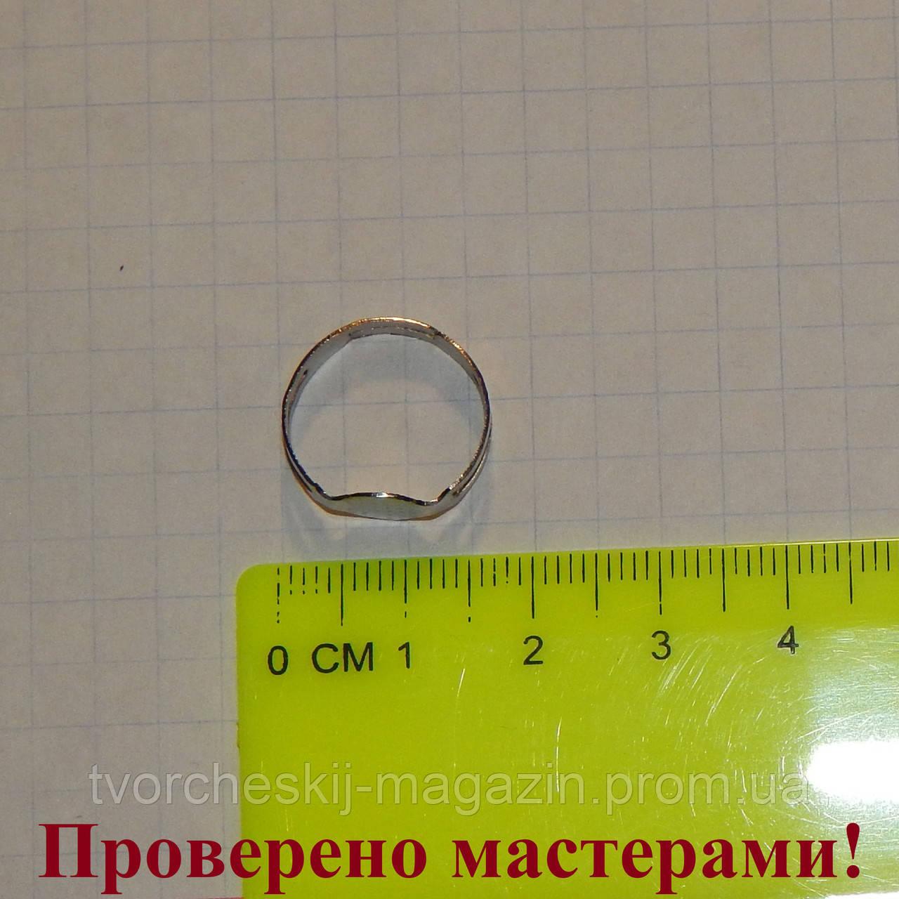 Основа для кольца, метал, темно серебристая