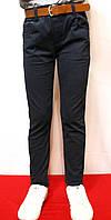 Мальчуковые весенние, стрейчевые котоновые брюки синего цвета, для от 4-12лет (116-146см) (Школа-2018г) Польша