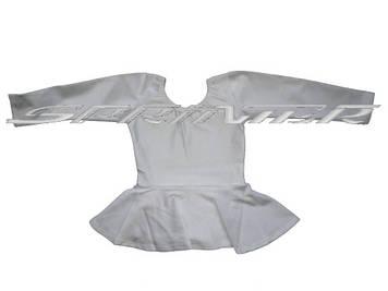 Купальники для художественной гимнастики с юбкой. Размер: 30-32\38-40.(белый)