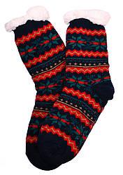 Носки тапочки женские BaGi Wool Снежинка Синий