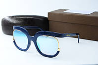 Солнцезащитные очки квадратные Ferragamo голубые