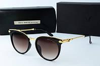 Солнцезащитные очки круглые Gentle Monster коричневые, фото 1