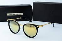 Солнцезащитные очки круглые Gentle Monster золотые, фото 1
