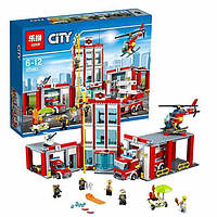 """Конструктор Lepin 02052 (аналог Lego City 60110) """"Пожарная часть"""", (1029 деталей)"""