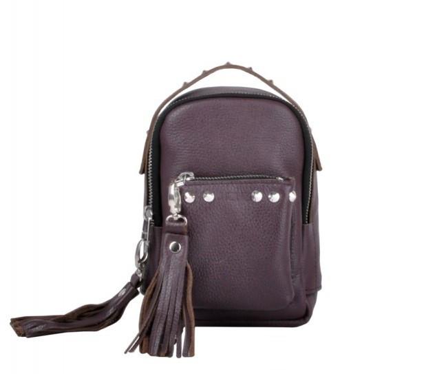 e58fc43056d7 Рюкзак Jizuz OS19147W кожаный Бордовый - Интернет-магазин