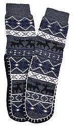 Носки тапочки детские LOOKeN Олени Темно-Серый