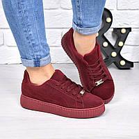 Кроссовки криперы Perms бордо 4275, спортивная обувь