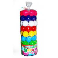 """Мячики шарики в тубе 62 шт"""" диам 6 см 0262 для сухого бассейна. Украина Т"""