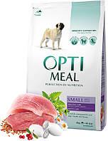 Optimeal Small Adult Dog для взрослых мини пород, 12+4 кг