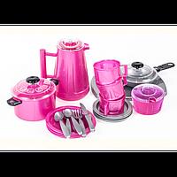 НАБОР ПОСУДЫ ИРИСКА 4, арт. 097, игрушечная посудка, набор для девочек, кухонный сервиз для детей