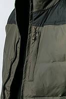 Жилетка мужская дутая 465K021 (Болотно-черный)