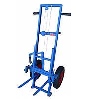 Пасечная тележка Апилифт 1.0 м подъём, полиуретановые усиленные колёса без подкачки