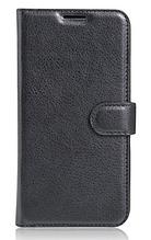 Кожаный чехол-книжка для  Lenovo Vibe S1 lite черный