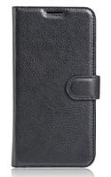 Кожаный чехол-книжка для Meizu Pro 6 черный