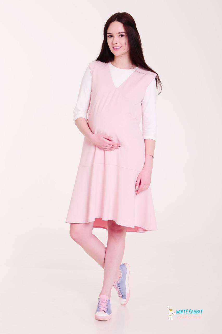 96d4d491d005ad8 Свободное летнее платье для беременных сарафан omeli (розово-персиковый) s  White Rabbit -