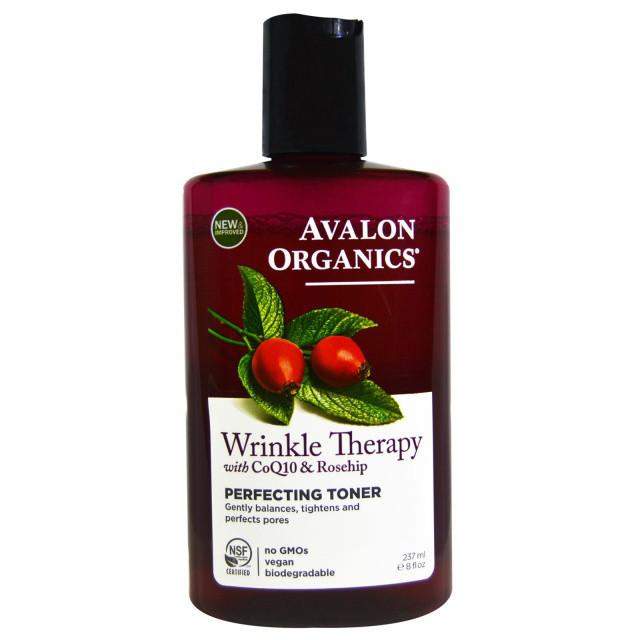 Выравнивающий тоник против морщин с коэнзимом Q10 и маслом шиповника *Avalon Organics (США)*