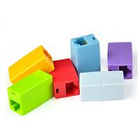 Соединитель RJ45 8P8C мама/мама RJ45 для соединения кабеля, серый, упаковка 100шт, цена за упаковку