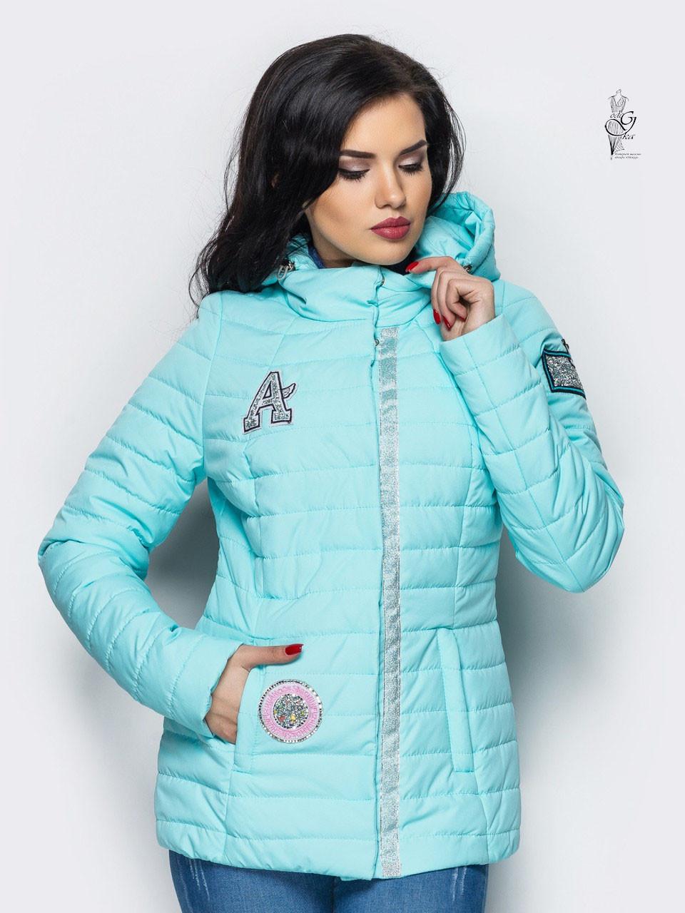 Женская курточка весенняя больших размеров Найс