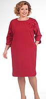 Платье Pretty-640/1 белорусский трикотаж, красный, 56