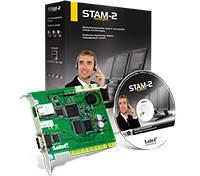 STAM-2 BE плата STAM-1 PE (мониторинг по TCP/IP) + ПО STAM-2 BS для Windows на 3 ПК Охранная сигнализация