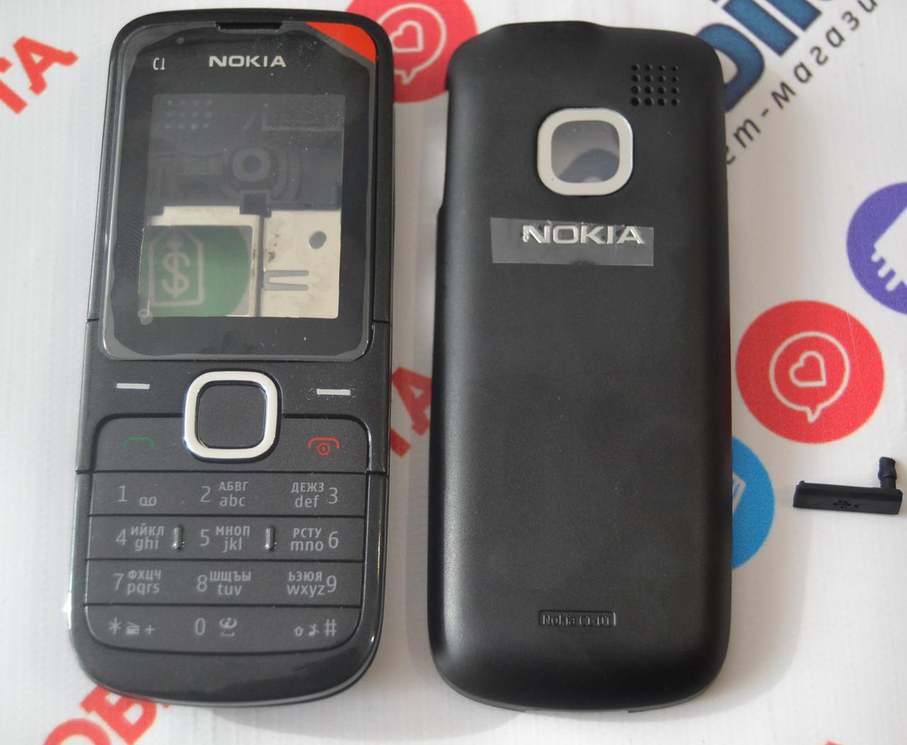 Корпус для Nokia C1-01 в Сборе (Качество ААА) (Черный) Распродажа! — в  Категории
