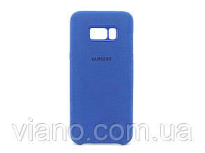 Замшевый чехол Samsung galaxy S8 (Синий) Alcantara cover
