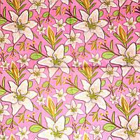 Декупажные салфетки Лилии на розовом фоне 85