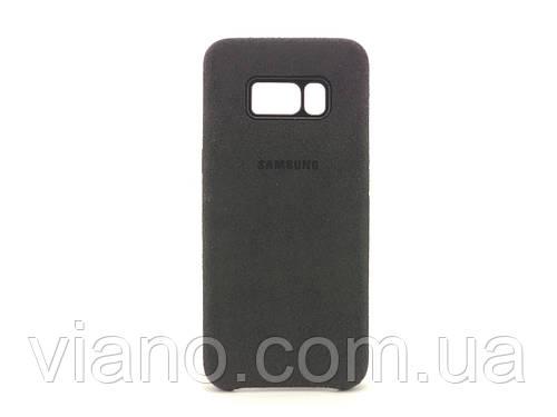 Замшевый чехол Samsung galaxy S8 (Чёрный) Alcantara cover