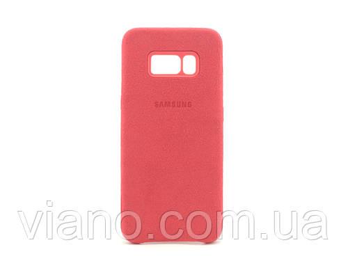 Замшевый чехол Samsung galaxy S8 (Красный) Alcantara cover