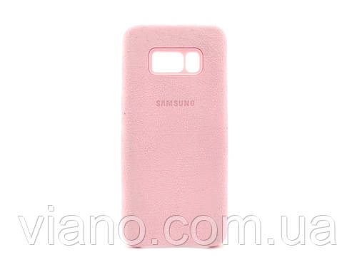 Замшевый чехол Samsung galaxy S8 Plus (Розовый) Alcantara cover