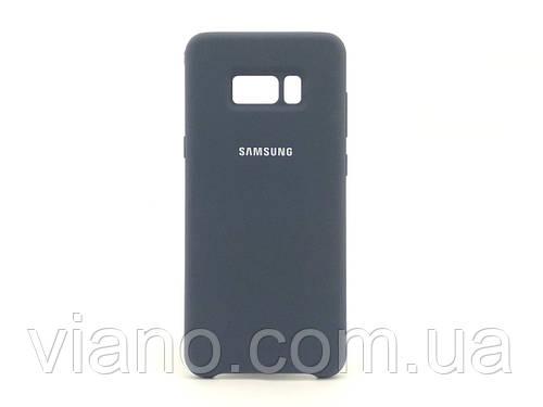 Силиконовый чехол Samsung galaxy S8 (Тёмно-синий) Silicone cover