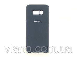 Силиконовый чехол Samsung galaxy S8 Plus (Тёмно-синий) Silicone cover